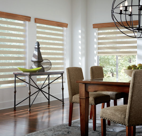 Beautiful Mezzanine layered shades by Graber